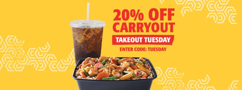 20% Off Carryout Takeout Tuesday